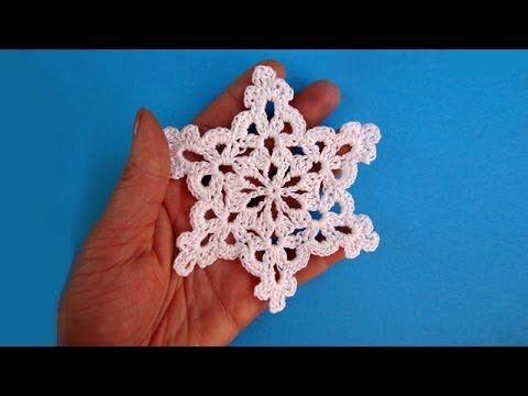 ▶ How to crochet snowflake - Снежинка - Pattern for free - Вязание крючком - YouTube