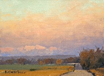 Marion County Road by Kim Casebeer Oil ~ 6 x 8
