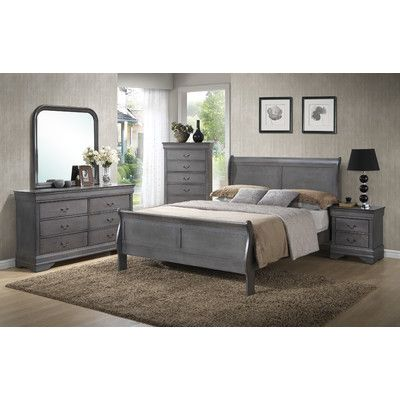 Louis Phillip Queen Sleigh Customizable Bedroom Set - http://delanico.com/bedroom-sets/louis-phillip-queen-sleigh-customizable-bedroom-set-588847050/
