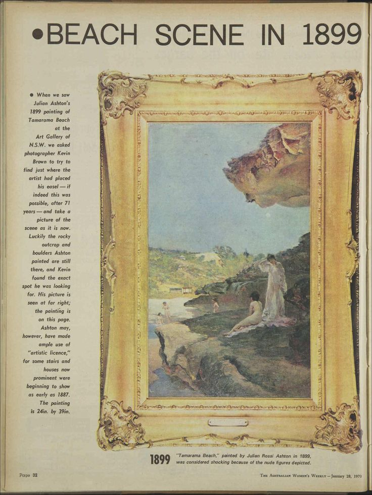 Julian Ashton's painting of Tamarama