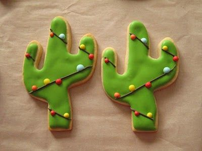 Christmas Cactus Cookies