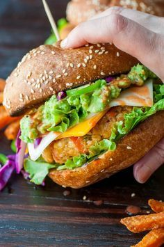 Making a crave-worthy veggie burger is easier than you think! Amp up the flavor with these Buffalo Chickpea Veggie Burgers topped topped with a delicious sauce and avocado smash!