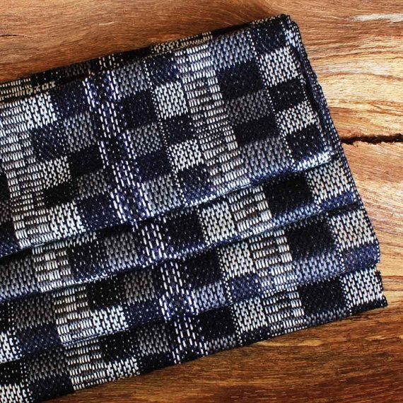 Plaid Scarf  Navy Infinity Scarf  Handwoven Scarf  Womens