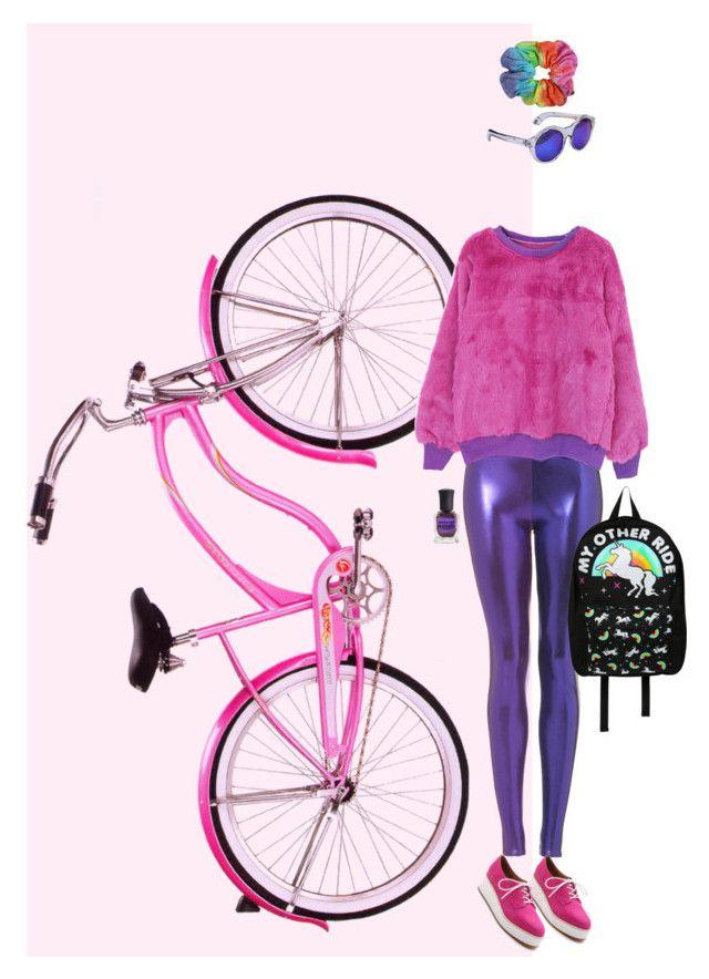 Розовый велосипед by chemical-engineer on Polyvore featuring мода, Topshop, Jeffrey Campbell, Loungefly, Chicnova Fashion and Deborah Lippmann