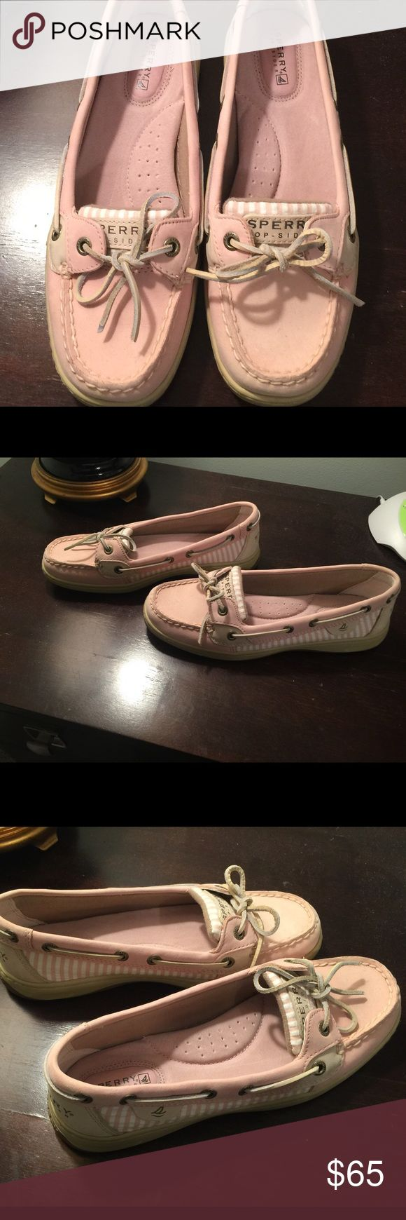 Ballet Pink Sperry Shoes These Ballet Pink Sperry Shoes are so darling and so comfy!! They have only been worn twice and are in amazing condition! Sperry Top-Sider Shoes Flats & Loafers