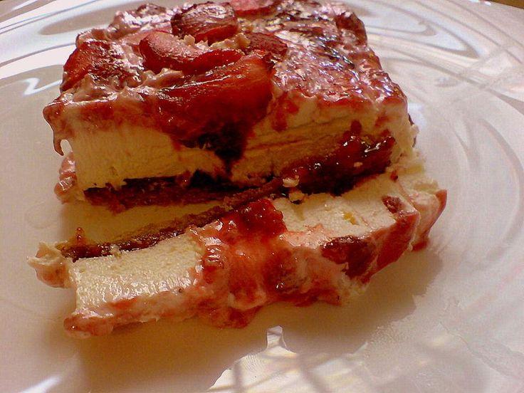 Μια συνταγή για ένα υπέροχο, λαχταριστό μπισκοτογλυκό με πτι μπερ και φρέσκες φράουλες. Αφράτο, μυρωδάτο και δροσερό για σας τους αγαπημένους σας και τους επισκέπτες σας. Απολαύστε το !!!    Υλικά συνταγής    900 γρ. φράουλες σε φέτες  3 1/2