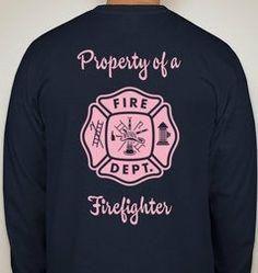 Firefighter girlfriend/wife shirts