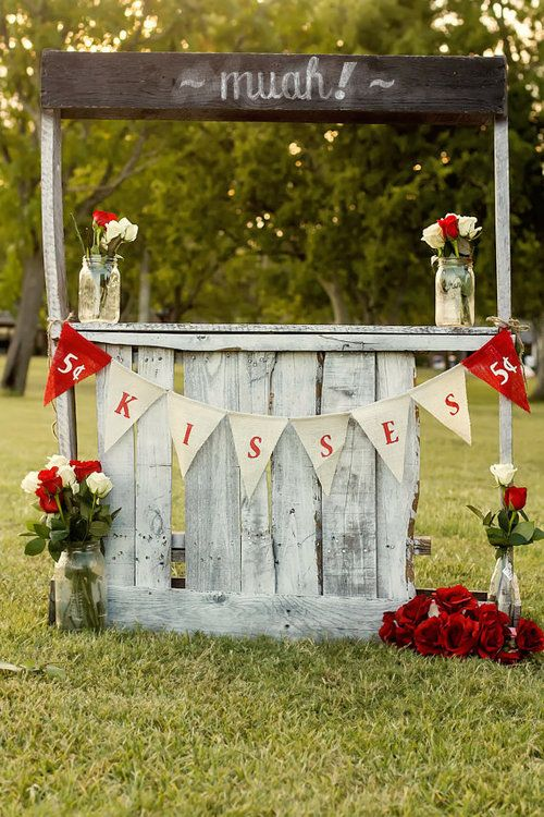 Kissing booth photography decor outdoors roses party ideas valentines day photo shoot