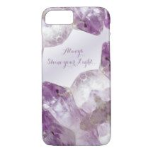 Always #Shine your Light #Amethyst Look Purple Gemstone  #iPhone 7 #Case #giftideas