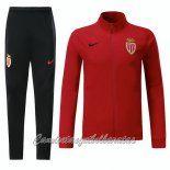 Chandal Nueva Camiseta Del Niño AS Monaco Rojo 2017-2018
