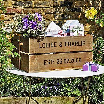 Wedding Gift Crate