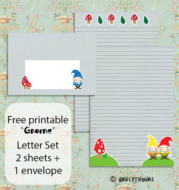 FREE printable gnome letter set // Wreck This Girl's Mailbox