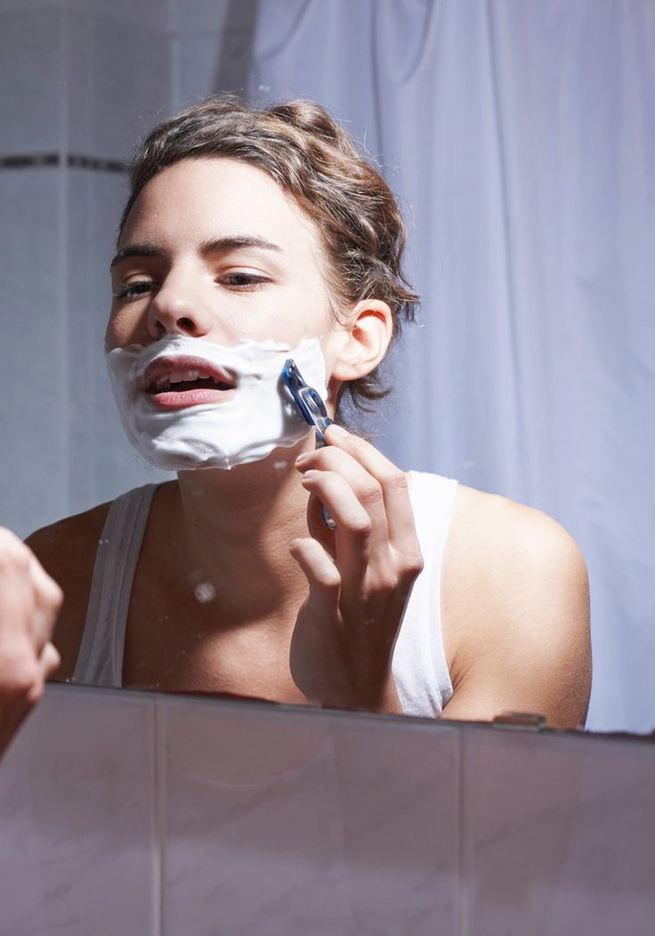 Boobs face shave