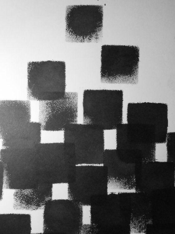 Contemporary OOAK Black and White Modern Fine Art Ink by Manjuzaka, €25.00