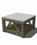 Free DIY Furniture Plans to Build a Crate and Barrel Inspired Bluestone Coffee Table | The Design Confidential