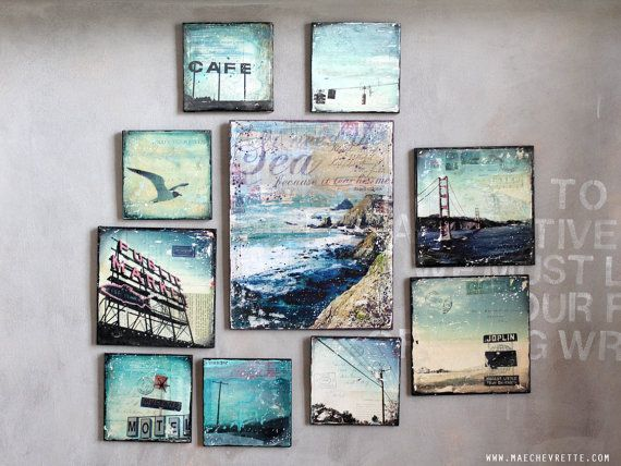 beautiful mixed media art by mae chevrette...love this entire set!