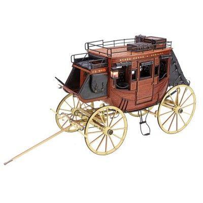 Maquette en bois et métal: Collection Heritage: Diligence 1848 - Artesania-20340