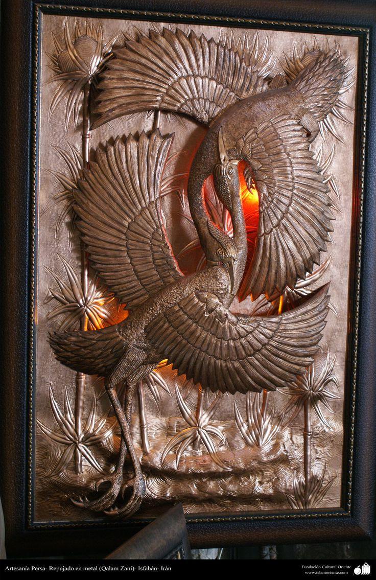 Artesanía Persa- Repujado en metal (Qalam Zani) - 40 | Galería de Arte Islámico y Fotografía