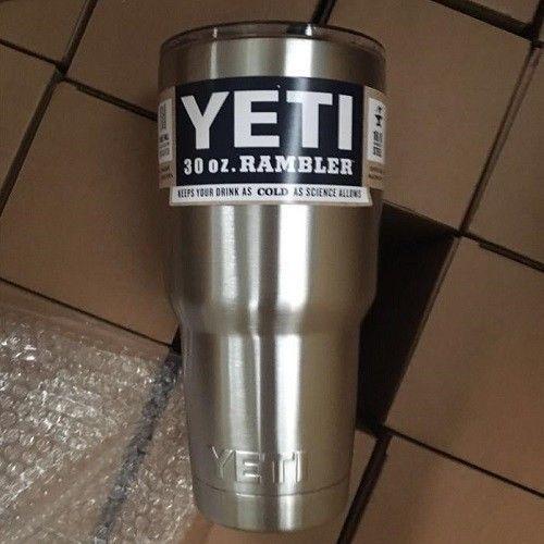 Yeti Rambler Tumbler Stainless Steel Cup 30oz #YETI