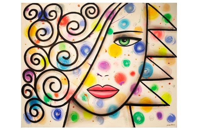 """Marylin Unfolded Series"" ©2012 Pop Artist Michael Perez   Gallery 212 Miami  Photo Courtesy Fred Love Photo"