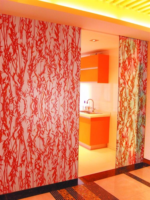Decorative Acrylic Panel Decorative Sliding Door Of