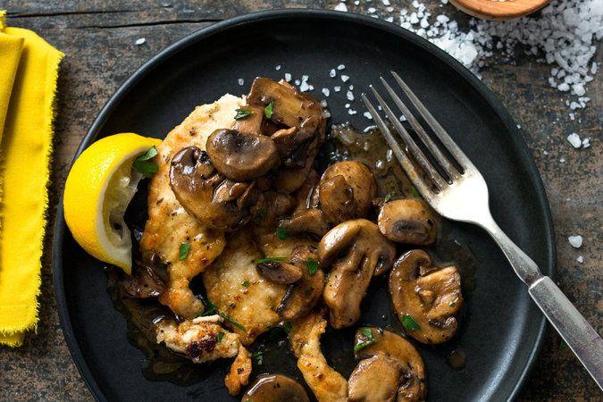 Lemon and Garlic Chicken With Mushrooms - NYTimes.com