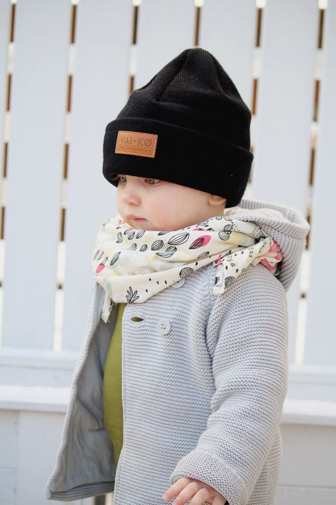14e266210d88 Spring Beanie look for Kids. Little girls black wool beanie outfit ...