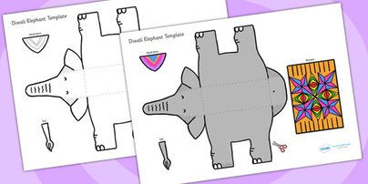 Twinkl Resources >> Diwali Elephant Cutout Template >> Classroom printables for Pre-School, Kindergarten, Primary School and beyond! diwali, elephant, cutout, cut out, cut-out, template, cut out template, diwali elephant, elephant template, cut and stick, animal, festival, celebrations,