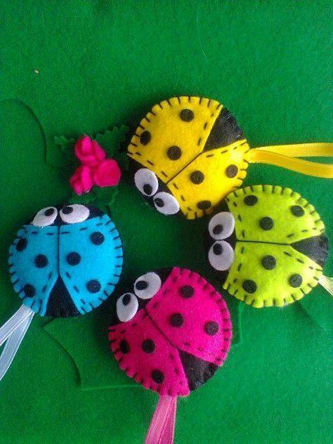 Felt Ladybug  keycahin... El işi #handwork #knitting http://turkrazzi.com/ppost/451908143849206338/