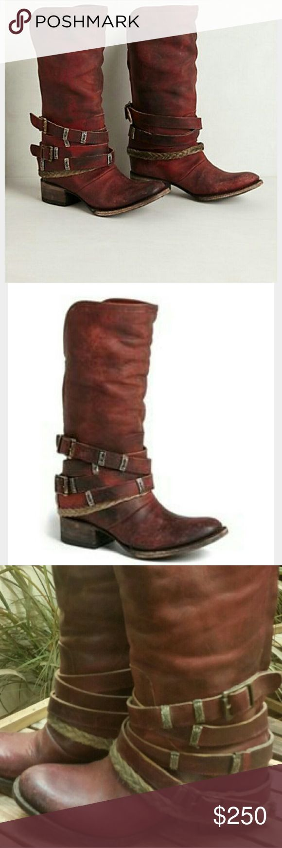 Amazing red Freebird dover boots Stunning worn once!  Not to much to say about these so I'll let the pixs speak for themselves!  Let me know if you have any questions! Freebird Shoes Over the Knee Boots