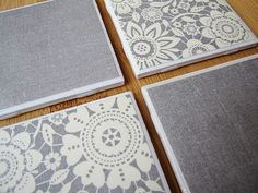 I've made the homemade coasters a few times but I do love the grey and lace design.