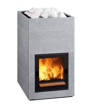 Wood-burning Tulikivi sauna stove is what I want.
