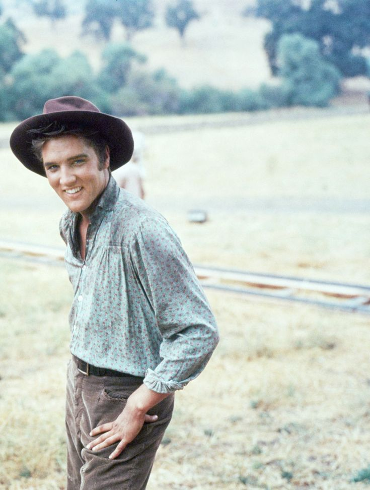 "hollywoodlady: "" Elvis Presley during the filming Love Me Tender, 1956 """