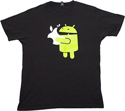 Green Robot Eats an Apple   Funny Mobile App Developer Humor Unisex T-shirt-Small *Click image to check it out* (affiliate link)