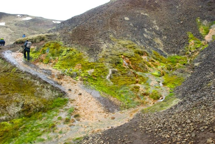 Hiking trail in Reykjadalur. Be sure to have the right equipment, clothes and shoes. The terrain can be pretty rogue.  #iceland #island #Hveragerði #hiking #vandring #nature #mountains #Reykjadalur