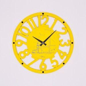 Ultıma Ahşap Sarı Duvar Saati 50 cm. 2680Y