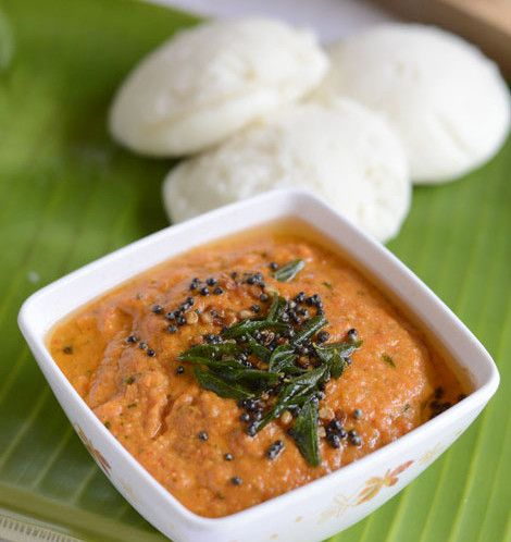 A chutney prepared with red bell pepper. Great side dish for idli and dosa. Can be used as a spread for bread and also as a dip