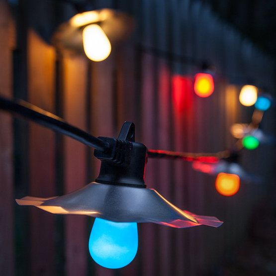 See How Colorful Party Lights Can Improve Your Backyard And Patio! Try  Outdoor Lighting Ideas