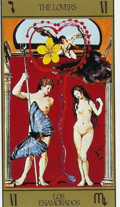 Tarot Cards The Lovers | From The Dali Tarot Deck.