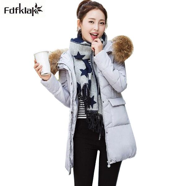 2017 New long coat jacket women's winter jackets fur collar hooded parkas female plus size down jacket women coats 2XL 3XL A328. Yesterday's price: US $78.30 (63.92 EUR). Today's price: US $39.93 (32.71 EUR). Discount: 49%.