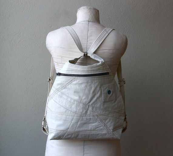 $148 on etsy :: converts to shoulder bag, made from sailcloth