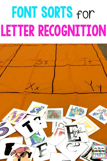 Font Sorts For Letter Recogntion | Smedley's Smorgasboard of Kindergarten | Bloglovin'