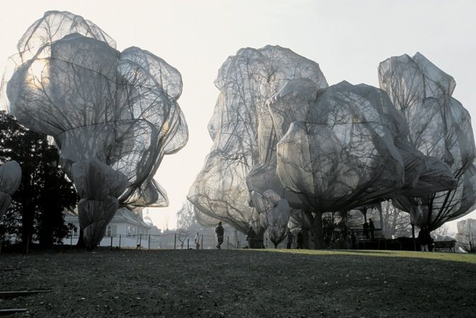 Christo and Jean Claude wrapped trees