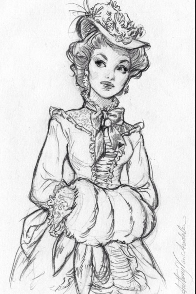 I can't really read the signature, sorry! Btw, she reminds me of anna karenina :-)