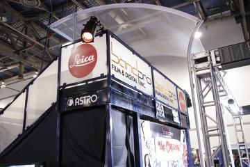 Skyline Double Deck 18' x 14' with Plexiglass Panels, Hanging Sign and Kiosks