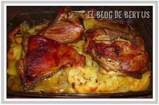 Ternasco al Horno con Patatas a lo Pobre.  Aragón, #Spain
