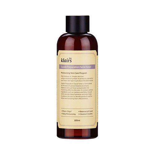 [Klairs]. - Contents : 180ml. Supple Preparation Facial Toner. Supple Preparation Facial Toner is formulated. It also helps prepare the skin to better absorb following products. Apply on a clean face.   eBay!