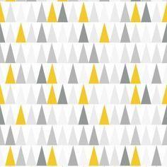 Papier peint vinyle expansé sur intissé Thalie jaune