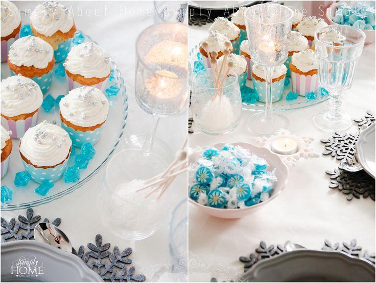 simply about home: W krainie lodu :) #frozen #movie #kids #party #ideas #cupcakes #pastels