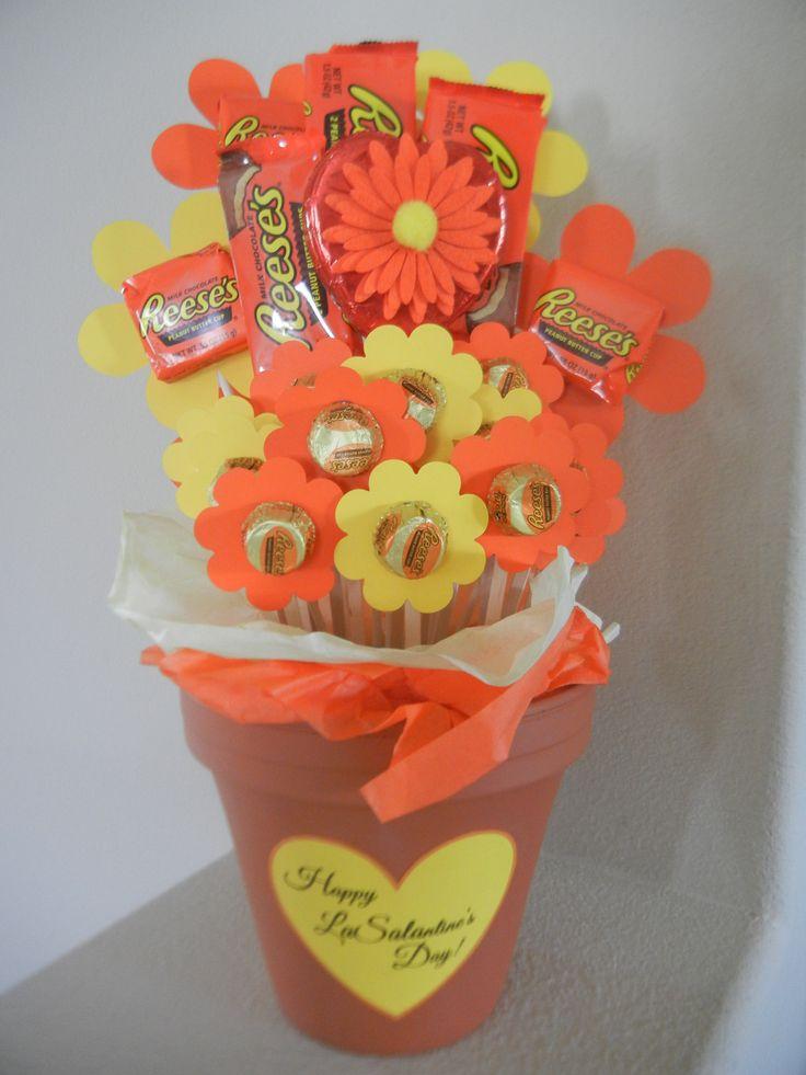 Teacher Valentine - Reese's Peanut Butter Cup bouquet ...